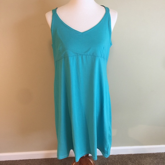 Columbia Omni Wick Dress XL Blue Short Racerback