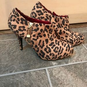 Christian Siriano Shoes - Leopard booties