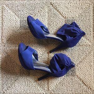 Anne Michelle Shoes - Cerulean Blue Anne Michelle Heels, Size 8