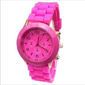 Geneva Accessories - Geneva quartz silicone jelly watch