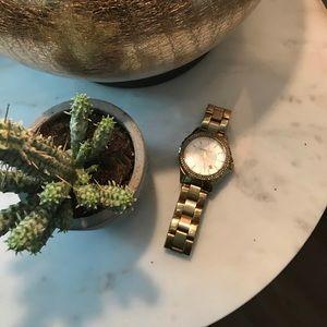 Michael Kors Gold & Crystal Watch