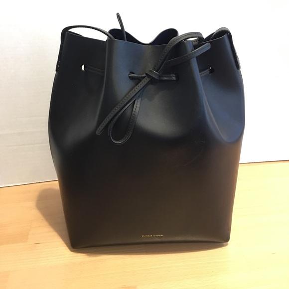 fbcc209f36c2 Mansur Gavriel Bucket Bag Large with Blu interior
