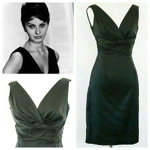 Donna Ricco Dresses & Skirts - Donna Ricco black stretch satin dress sz 2P