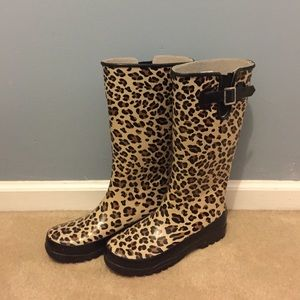 Cheetah Print Sperry Top-Sider Rain Boots