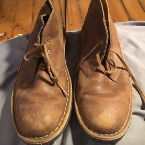 clarks desert boot, brown, size 9.5