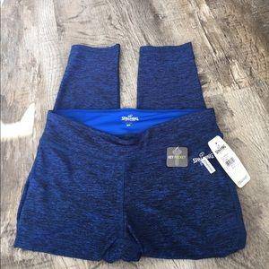spalding Pants - Spalding blue crop pants workout nwt