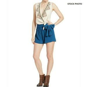 Free People Pants - FREE PEOPLE Bow Waist Shorts