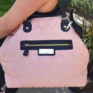 Betsy Johnson  Handbags - ??MARKDOWN? Betsy Johnson Pink Black Handbag Purse