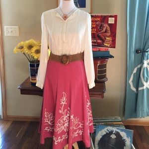 Allison Taylor Dresses & Skirts - Pink Midi Skirt by Allison Taylor Size 4