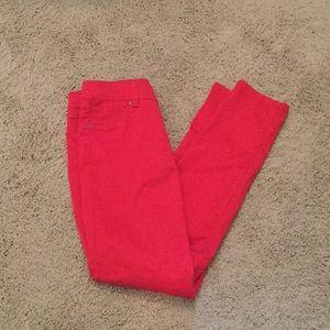 INC International Concepts Jeans - INC Skinny Leg Regular Fit  Red Jeans Sz 6