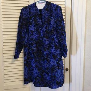 Madewell Blue silk shift dress
