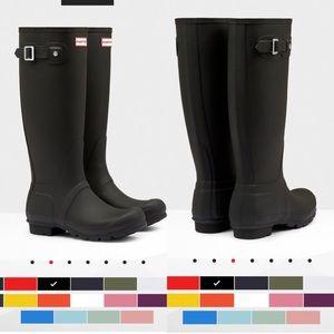 Tall Black Hunter Boots