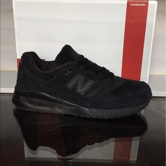 newest d3806 180d1 New Balance 530 Black Suede Men's