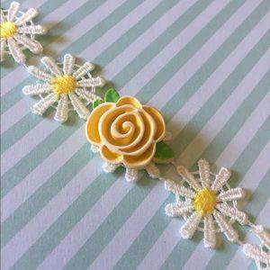 Daisy choker yellow flower summer sweet Kawaii
