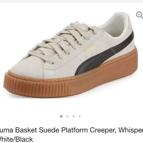 a16652633f9 Puma suede platform creeper tan   whisper white