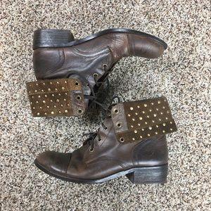 Gianni Bini Shoes - Gianni Bini Studded Rustic Ankle Boot