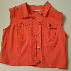 Cato Jackets & Blazers - Orange jean vest