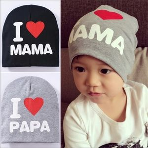 I love Mama cotton hat for infant/toddler
