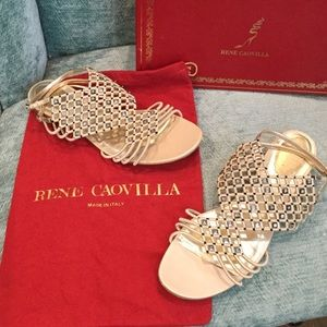 RENEE CAOVILLA Shoes - BEAUTIFUL RENE CAOVILLA SANDELS LIKE NEW 41 1/2