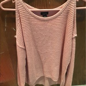 Off the shoulder Rue 21 pink sweater