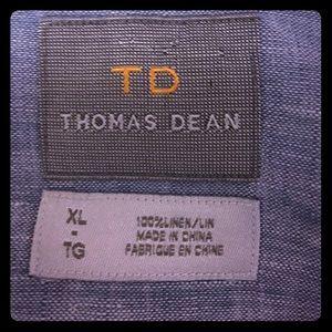 Thomas Dean Other - Thomas Dean blue linen shirt XL