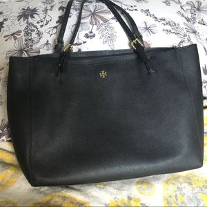 Large Black Tory Burch York Tote LAST LOWER PRICE