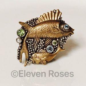 Mars & Valentine Jewelry - Mars & Valentine Sterling Poseidon Large Fish Ring