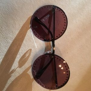 B Brian Atwood Accessories - Brian Atwood on trend round bejeweled glassesNWT