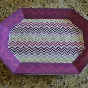 Missoni Large Serving Platter in Violet Zig Zag
