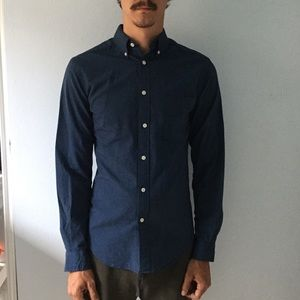 Merona Other - NWT long sleeve heathered navy button up