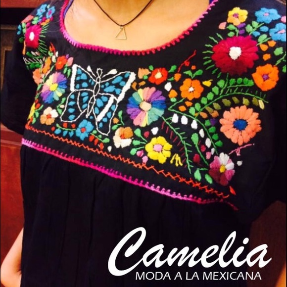cb6587ac832b2 Mexican blouse - hand embroidered