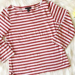J. Crew Tops - J. Crew striped 3/4 sleeve blouse ✨