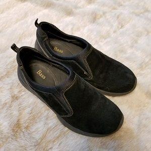 BASS Black Suede Slipon Shoes Coyote 7M