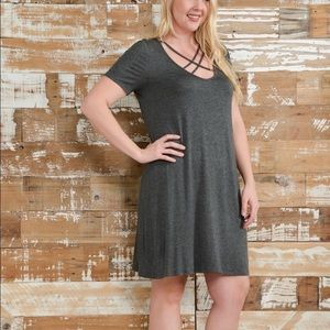 Bellino Clothing Dresses & Skirts - 🎉🌟HOST PICK 🥂🏅Plus Criss Cross A-Line Dress