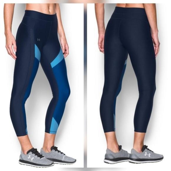 0561abbc7dabf3 Under Armour Pants | Color Block Blue Legging Pant Tights | Poshmark
