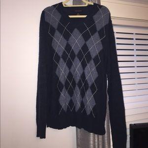 Banana Republic Blue Argile V-Neck Sweater