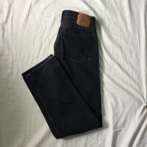 Levi's Other - Vintage 501 slim fit faded black Levi's jeans