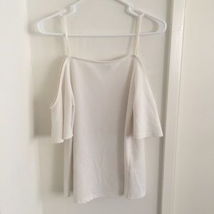 New Look Tops - New Look White Cold Shoulder Top