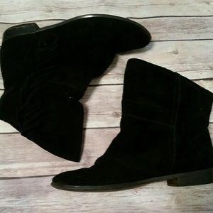Colin Stuart Shoes - Black fringe booties