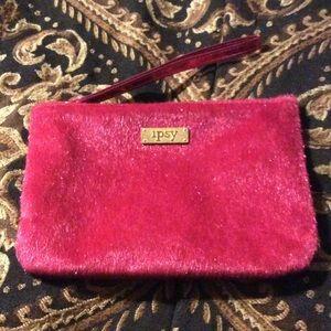 Stila Other - Pink fur Ipsy bag filled w/Honey Rose Lipsense &