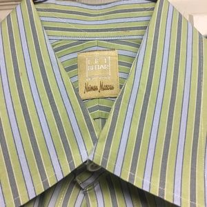 Ike Behar Other - IKE BEHAR 100% cotton green gray navy  dress shirt