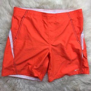 Nike Other - Nike Mens Orange Core Velocity Volley Swim Trunks