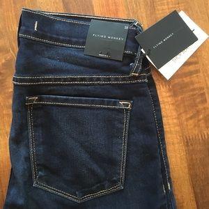 Flying Monkey High Waist Blue Soft Skinny Jeans 25