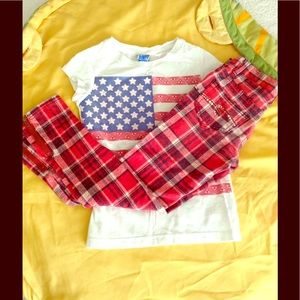 Justice Other - All American Set with Flag Tee and JUSTICE Jeans