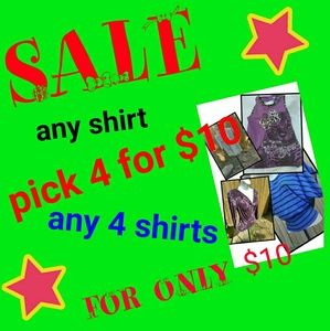 SALE Tops - Sale on All Shirts !!!!