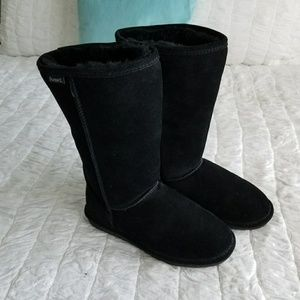BearPaw Shoes - BearPaw Black Shearling Mid-height Boots Sz 9.5