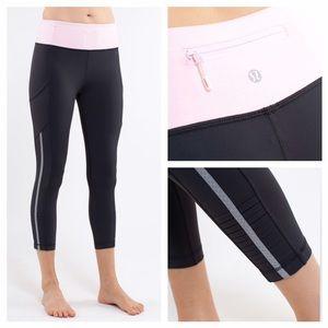 lululemon athletica Pants - Lululemon Back On Track Crop Reflective *Luxtreme