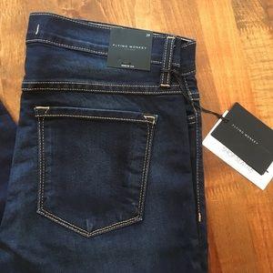 Flying Monkey High Waist Blue Soft Skinny Jeans 29
