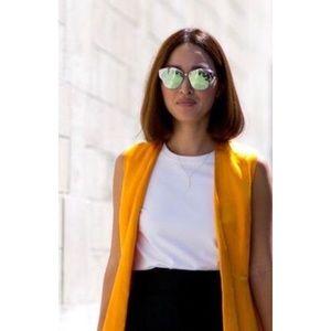 Monrow Jackets & Blazers - - Monrow - Yellow textured vest