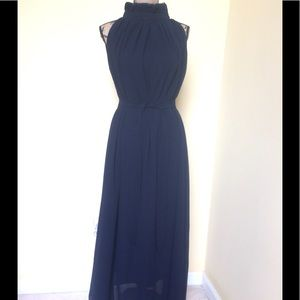 Dresses & Skirts - TS THREE SEASONS DARK NAVY BELTED MAXI DRESS